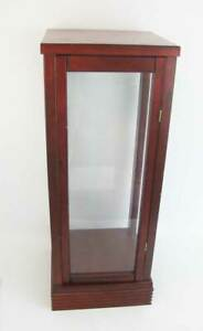 Large Wood And Plexiglass Display Case With Hinged Door 25 5 Tall Quality Made