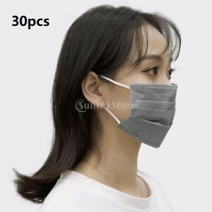 30x Disposable Face Mask Mouth Cover Anti Dust Fog Breathable Outdoor Protection