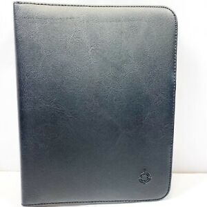 Franklin Covey Classic Quest Black Vinyl Binder 7 Ring Organizer 9 X 7 Planner