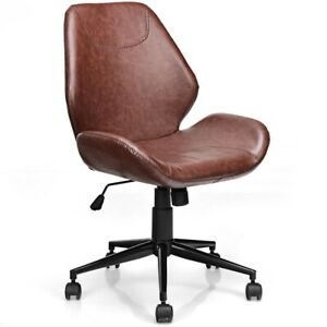 Office Home Leisure Mid back Upholstered Rolling Chair