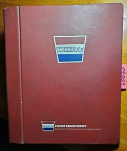 Wfe White Tractor Farm Equipment 3 Ring Hard Cover Service Manual Binder Vintage