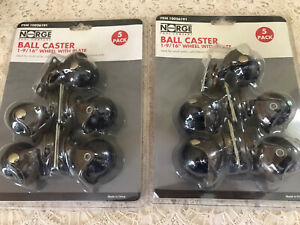 2 New Wheel Casters Ball Rubber 132lbs Per Swivel W plate 5 pack 1 9 16 Norge