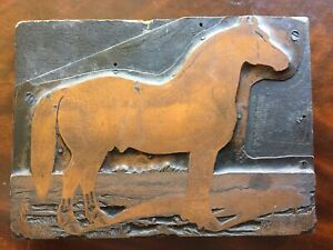 Antique Printing Block Of A Horse