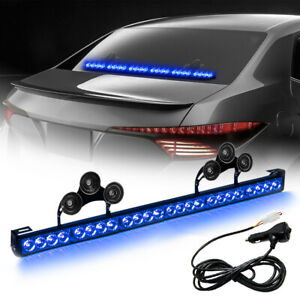 27 24 Led Traffic Advisor Emergency Hazard Warning Strobe Light Bar Blue Color