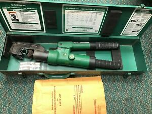 Greenlee 1989 15 Ton Dieless Manual Hydraulic Crimper Free Shipping