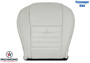 99 04 Ford Mustang Gt Convertible passenger Side Bottom Leather Seat Cover White