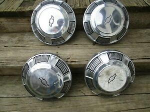 68 69 70 71 72 73 74 Chevy Bel Air Biscayne Impala Poverty Dog Hubcaps Set Of 4