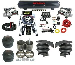 3 Preset Heights Complete Air Ride Suspension Kit Gm 99 06 1500 Chrome 580