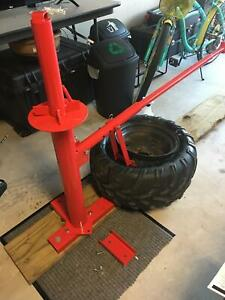 Portable Manual Tire Changer All Steel Construction Bead Breaker Tool Mounting