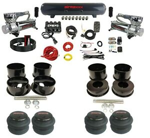 Complete 1991 96 Caprice Air Ride Suspension Kit 3 8 Evolve Manifold Bags