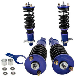 Coilovers For Honda Civic Ek Ej Em Height Adjustable 1996 2000 Blue Auto Parts
