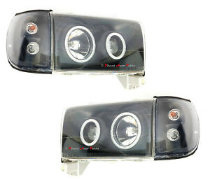 Angel Eyes Head Light Lamp led Fit Toyota Hilux Surf 180 185 4runner 1995 2002