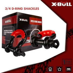 X bull D Ring Shackle Bow 3pcs 3 4 Black Isolator 5t Offroad Truck Recovery