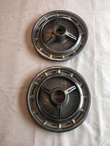 1964 1965 1966 Chevy Impala Ss Super Sport Spinner Wheel Covers Hub Caps Oem