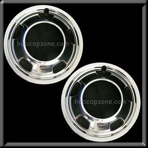 2 2011 2012 Dodge Ram Truck 3500 Front Pair 17 Hub Caps Wheel Simulators