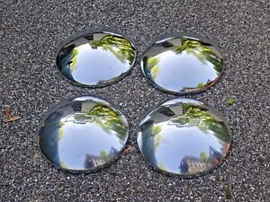 1970 79 Chevy Impala Chevelle Nova Etc Baby Moon Dog Dish Hubcaps Set Of 4