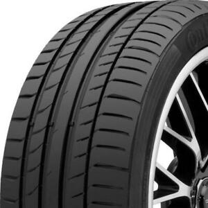 2 New 225 45r17 91w Continental Contisportcontact 5 Ssr 225 45 17 Tires