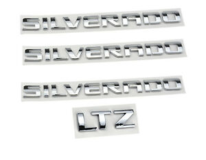 3x Oem Silverado ltz Nameplate Emblems Badge 3d 1500 2500hd 2011 2015 Chrome
