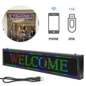 40 X 8 Full Color Indoor Led Sign Programmable Scrolling Message Board Display