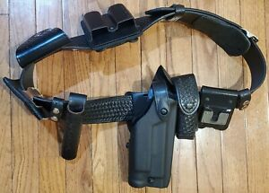 Basket Weave Duty Belt Police security Glock 17 22 Holster With Pouches Used