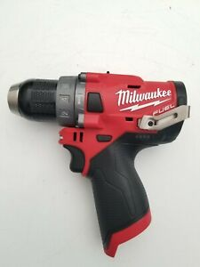 New Milwaukee 2504 20 M12 12v 12 Volt Li ion Fuel Brushless 1 2 Hammer Drill