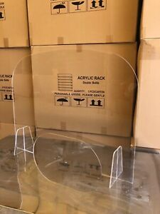 Sneeze Guard Clear Acrylic Table Desk Checkout Counter Shield 30 w X 23 h