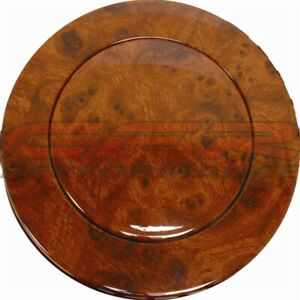 1967 94 Chevy gm Aluminum Steering Wheel Horn Button W Wood Grain Hydrographic