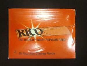 25 Pack Rico Alto Clarinet Reeds - Vintage Packaging