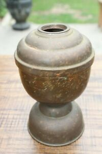 Vtg Large 6 25 Solid Brass 3 Pounds Perko Oil Lamp Weighted Marine Boat Part