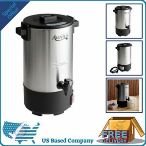 New Stainless Steel Electric Coffee Maker Urn Machine 30 Cup Brewer Silver 1