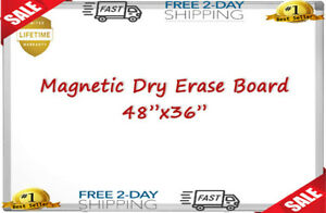 Magnetic Whiteboard white Board 48 X 36 Inches Magnetic Dry Erase Board Alumin