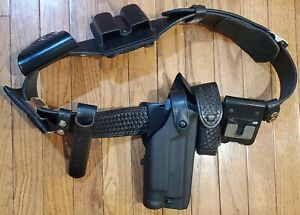 Basket Weave Duty Belt Police security Glock 17 22 Holster With Pouches Popular