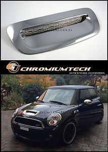 07 13 Mini Hatch Coupe Clubman Cooper S sd Chrome Bonnet Air Intake Scoop Cover
