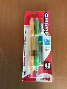 Pentel Champ Automatic Pencil 0 7mm Assorted Barrels 2 Pack With Extra Lead