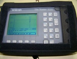 Wiltron S331 Site Master With Nice Soft Case New Battery Charger Full Test