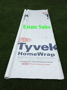 3 X 7 Ft Tyvek Housewrap Paper Underlayment Siding Wall Insulation Mold Protect
