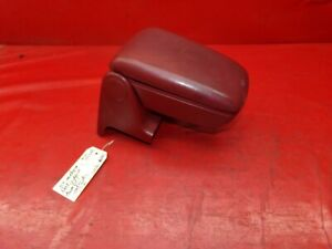 87 93 Mustang Center Console Arm Rest Armrest Assembly Look At Red Maroon Oem