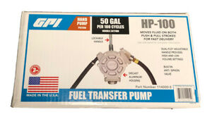 Gpi 114000 5 Manual Fuel Transfer Hand Pump 50 Gal 100 Strokes 1 Fnpt Inlet