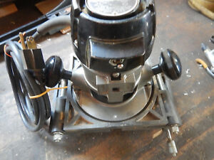 Vintage Craftsman Electric Router W Bis Kit System Biscuit Cutter Fixture