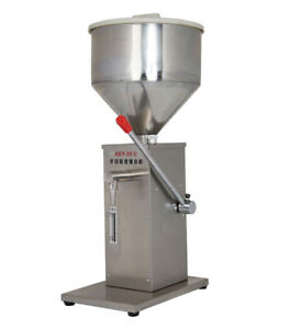 Manual Stainless Liquid Paste Filling Machine Creams Dispensing Packaging