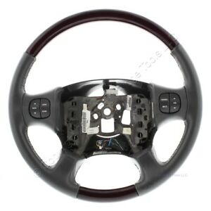 New Gm Oem Wood And Dark Gray Leather Steering Wheel Fits 05 07 Buick Rendezvous