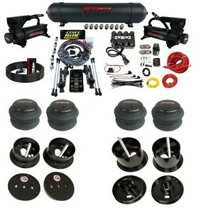 3 Preset Heights Complete Bolton Air Ride Suspension Kit Cadillac 61 62 Manifold