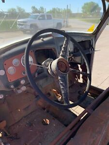 1955 1st Series Gmc Truck Steering Column With Gear Box