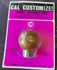 Vintage Nos Cal Custom Woody Shift Knob Group C 2087 Chevy Corvette 64 69