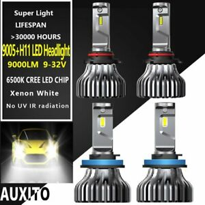 4x 80w 9005 H11 Led Headlight Bulb Kit For Chevy Silverado 1500 2500 3500 Hd Us