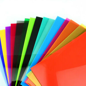 200x400mm Colored Perspex Acrylic Sheet Plexiglass Plastic Cut Panel Plate Diy