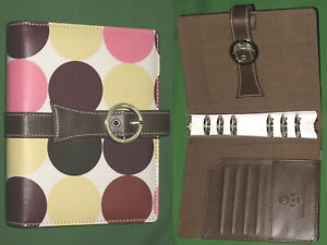 Compact 1 0 Polka Dots Faux Leather Franklin Covey 365 Planner Binder 2218