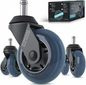 Stealtho Office Chair Caster Wheels Set Of 5 Protect Your Floor Quick Quiet