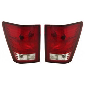 For 2007 2010 Jeep Grand Cherokee Pair Driver And Passenger Side Taillight Capa