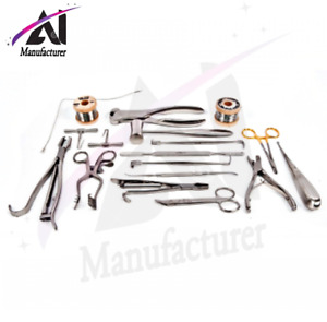 Veterinary Orthopedic Set Contains 19 Instruments A Set